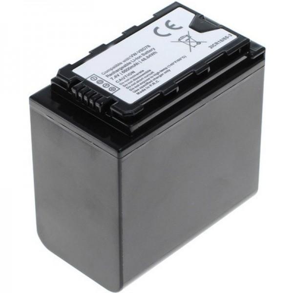 VW-VBD78 batterij voor Panasonic HC-X1000 met batterijniveau-indicator VW-VBD78