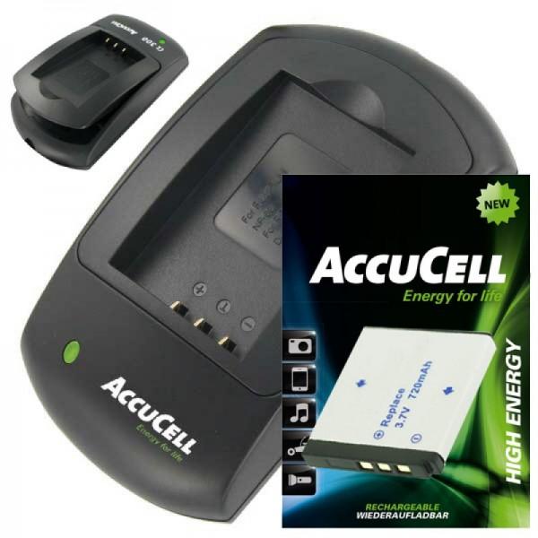 AccuCell-lader en batterij geschikt voor Rollei XS-10 in Touch