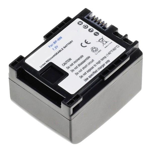 AccuCell-batterij geschikt voor Canon BP-809 met resterende minuten