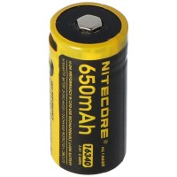 Nitecore Li-Ion batterij type 16340 - 650mAH - NL1665R