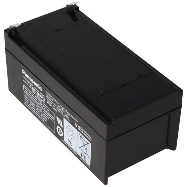 Panasonic LC-R123R4PG batterij 12 volt 3,4 Ah met Faston F1-aansluiting 4,8 mm stekkercontacten