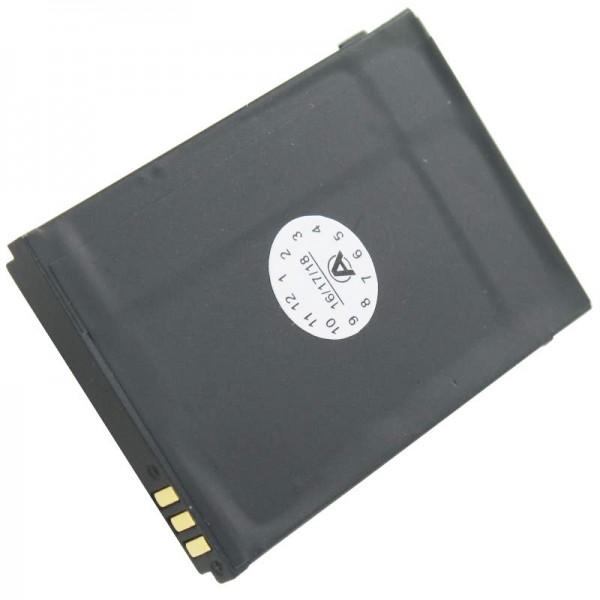Batterij geschikt voor de DORO PHONEEASY 342 batterij XD0904009446, 01.10.CAREP0103 53.5 x 36.1 x 4.9mm