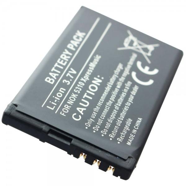 AccuCell-batterij geschikt voor de Nokia BL-4CT-batterij Nokia 7310, 7230, 7210