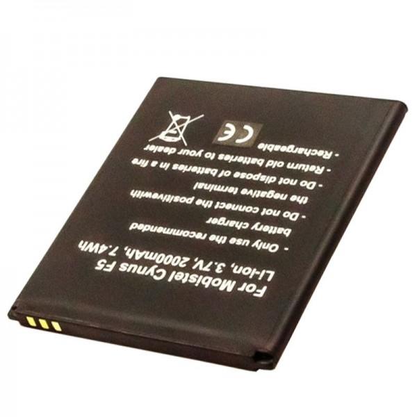 Batterij geschikt voor de Mobistel Cynus F5 batterij BTY26184, MT-8201B, MT-8201S, MT-8201W, 2000mAh
