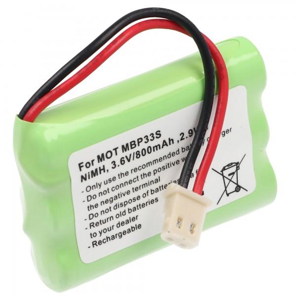 AccuCell-batterij geschikt voor de Motorola MBP30-batterij TFL3X44AAA650-CD77-01B