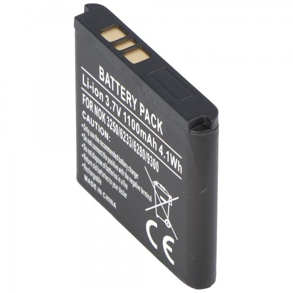 AccuCell-batterij geschikt voor Nokia 9300i-smartphone, BP-6M, 600mAh