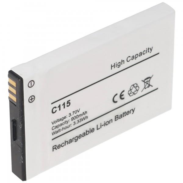 AccuCell-batterij geschikt voor Motorola C115, C116, C155, Tchibo 202