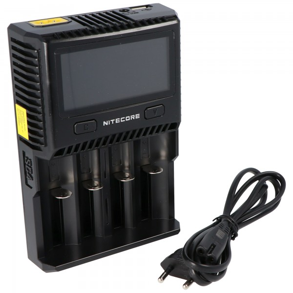 Nitecore SC4 snellader geschikt voor bijna alle Li-ion, NiMH en LiFEPO4 batterijen