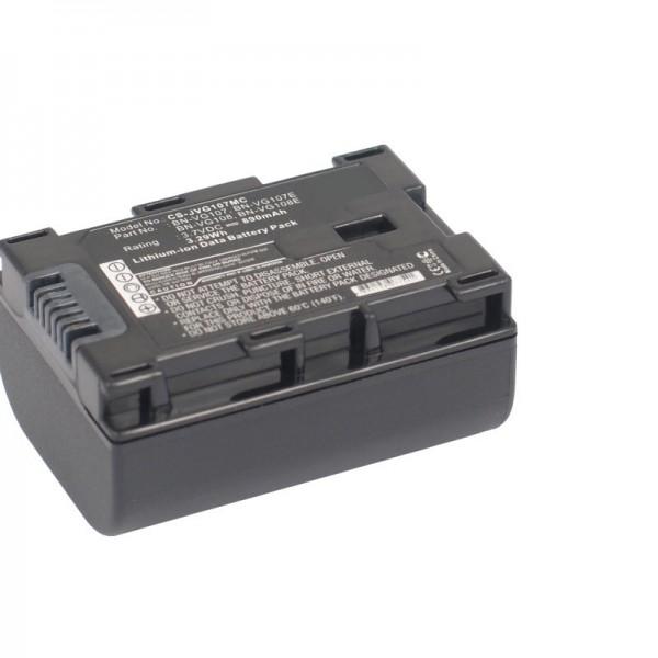 BN-VG107 compatibele batterij van AccuCell met 890mAh