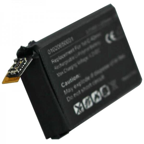 Accu geschikt voor de Apple iWatch 42mm 1e generatie Li-Polymer batterij A1579, A1554, iWatch 1st G 42mm, 3.8Volt 273mAh met 1Wh