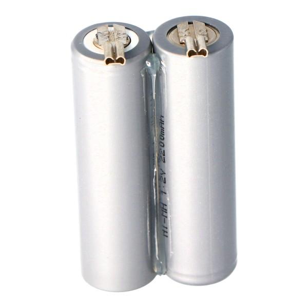 Batterij voor de Moser Ermila Genio Plus Genius batterij 1854-0078, 2.4V NiMh