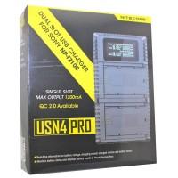 Nitecore USN4 PRO USB-lader voor Sony NP-FZ100-batterij, dubbele lader
