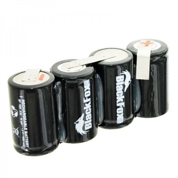 Batterijpakket bestaande uit 4x 2 / 3A 1600mAh-cellen met kabel, zonder stekker