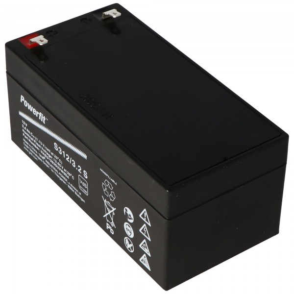 Exide Powerfit S312 / 3.2S loodbatterij, aansluiting 4,8 mm, VDS