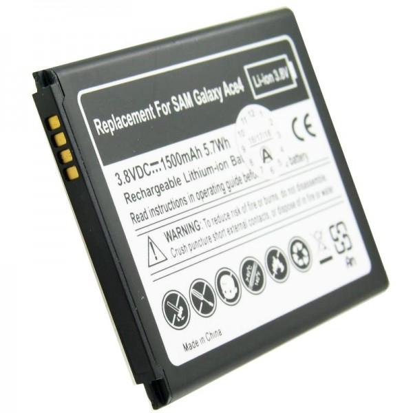 Batterij geschikt voor de Samsung EB-B130BE batterij Galaxy Ace 4, Galaxy Ace Style, SM-G310 met 4 contacten