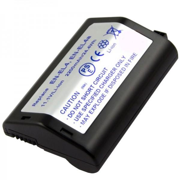 AccuCell-batterij geschikt voor Nikon EN-EL4-batterij, F6, D2H, D2X, D3, D3X