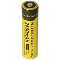 NiteCore 18650 Li-ionbatterij voor LED-zaklampen NL186 met 2600mAh, CR18650 18.6x70mm